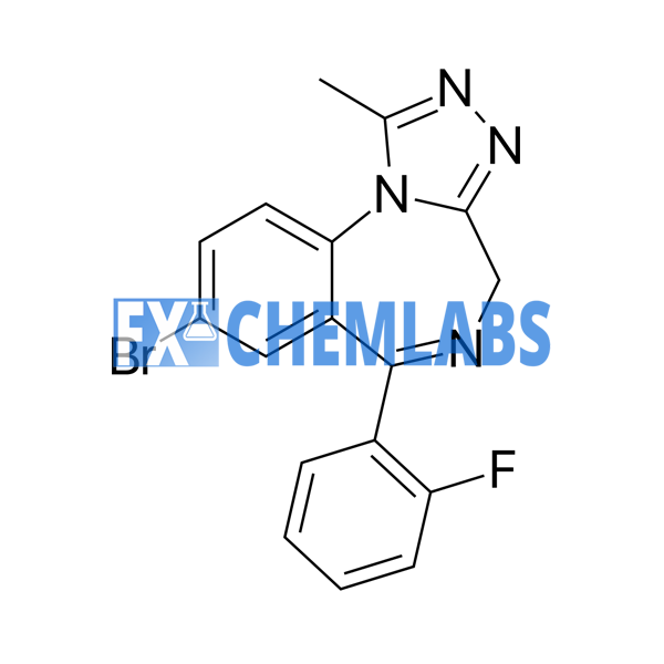 Flubromazepam chemical structure on fx chem labs